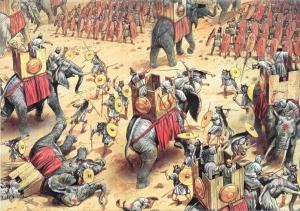 Elefantes de guerra.