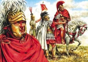 Oficiales romanos.